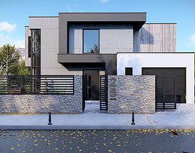 3D asset Modern House - Kv Town
