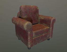 3D model Armchair leather