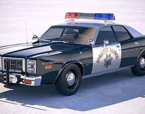 Dodge Monaco Police 1977 3D model