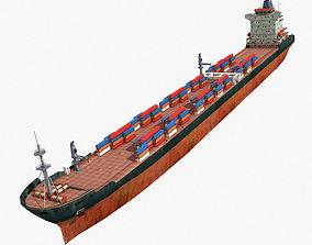 Cargo Ship 3D asset low-poly