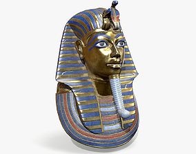 3D model Tutankhamon Mask lowpoly
