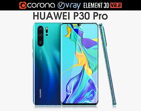 3D model Huawei P30 Pro Aurora