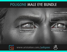 Poligone Male Eye Bundle 3D model