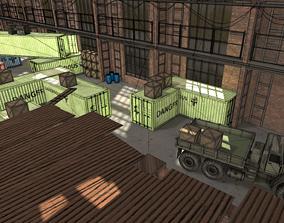 FPS Hangar - tournament map 3D model