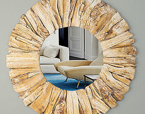 3D Driftwood Mirror