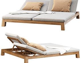 3D GIJS Double Sun lounger by Piet Boon
