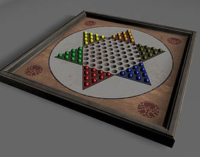 Chinese Checkers 3D asset