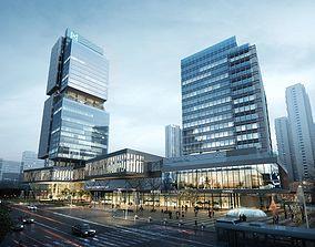 3D model Modern business apartment center 005