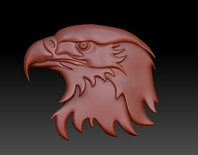 the head of an eagle 3D printable model