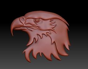 the head of an eagle 3D print model