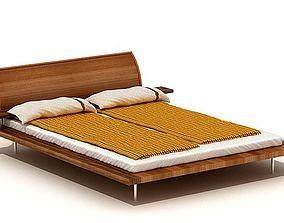 3D model Modern Wooden Bed