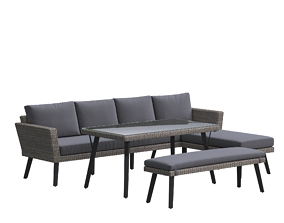 Dining Sectional Set Outdoor 3D