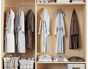 3D Bathroom decor set bathrobe