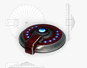 3D model Sci-fi mine 1 low poly
