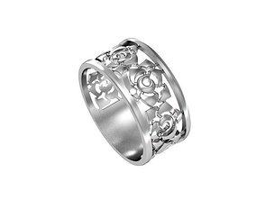Ring cut out set 3D printable model elegant