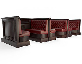 Chesterfield Style Bench 3D model