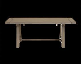 3D model Wood Farmhouse Leona clean Dining Table