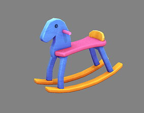 3D model Cartoon rocking chair-toy horse