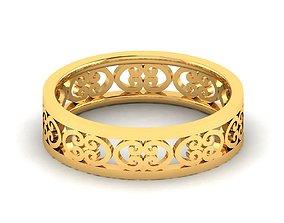Women band ring 3dm stl render jewelry platinum