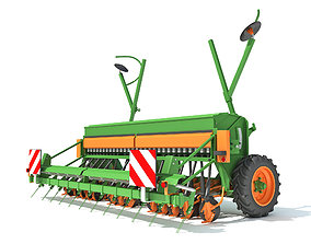 Seed Drill Seeder 3D
