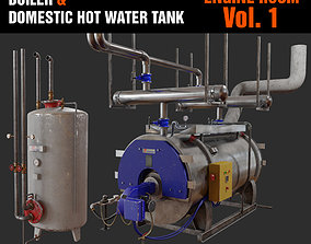 Boiler and Domestic hot water Tank 3D PBR