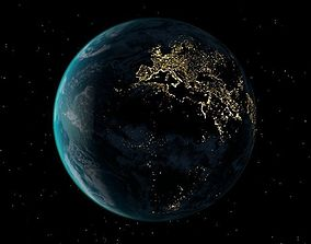 3D animated Realistic Earth