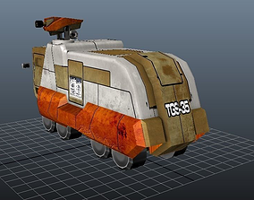3D model low-poly Armoured Truck