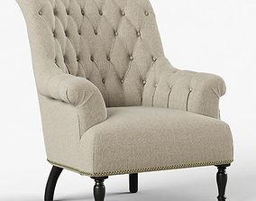 Restoration Hardware Clementine Tufted Chair 3D model