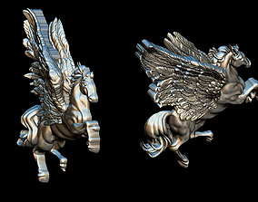 Pegasus pendant 3D print model pegasus