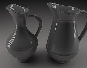 3D White jugs 1