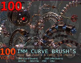3D asset 100 Sci Fi IMM Curve Brushes VOL 2