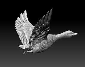 sculpture goose 3D print model