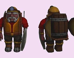 3D model Dwarf lowpoly