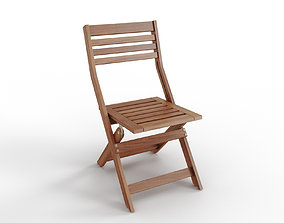 3D model APPLARO Chair outdoor foldable brown stained