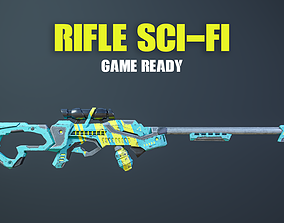 3D asset Rifle Sci-Fi Game Ready