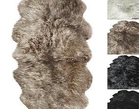 NATURAL SHEEPSKIN RUG RH 3D model