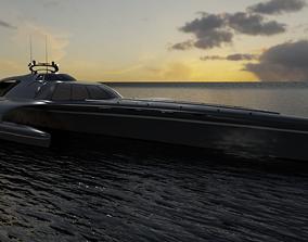 boat 3D model Trimaran