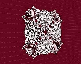 3D model Mandala pattern frame