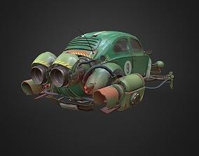 3D asset Rocketwagen gameready model