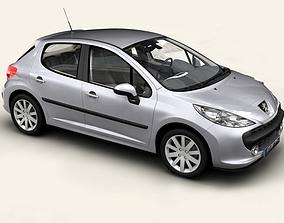 3D Peugeot 207 5 door