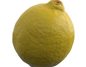 game-ready Photorealistic 3D Scanned Lemon
