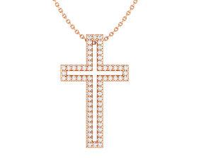 Cross pendant 3dm stl render detail jewel spiritual
