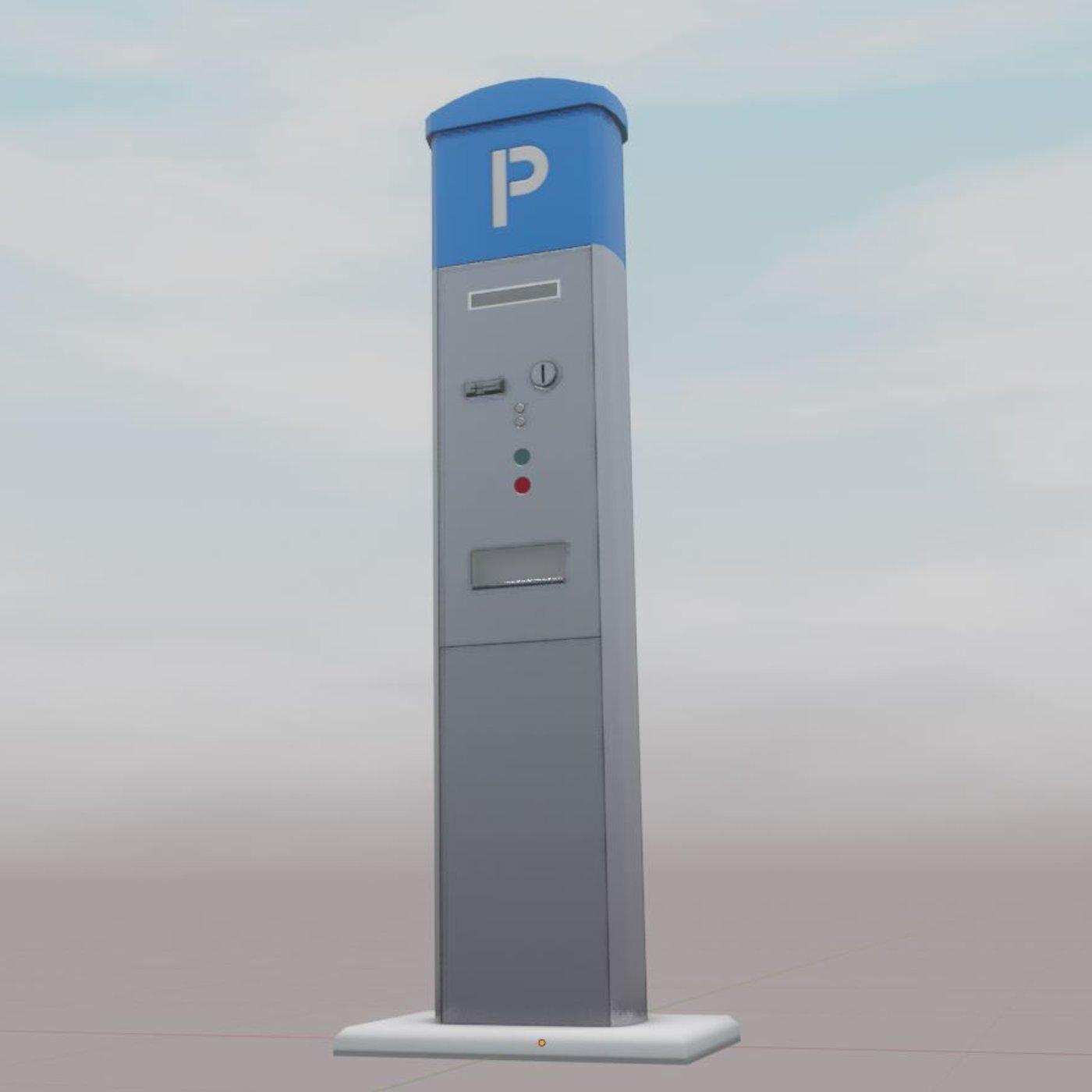 Parking Machine Low-Poly Version
