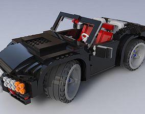 Lego car racing 3D model