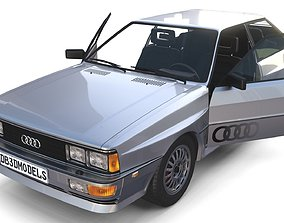 3D 1981 Audi Coupe Quattro with interior Silver