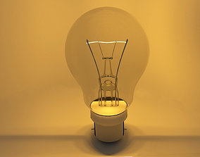 Incandescent Bulb 3D model animated