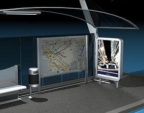 Bus stop 3 3D