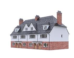 3D model English Brick House 10
