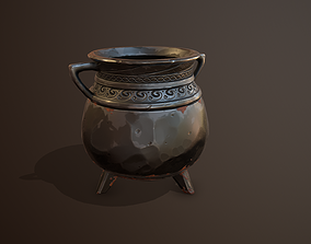 Iron Cauldron Gameready 3D model game-ready