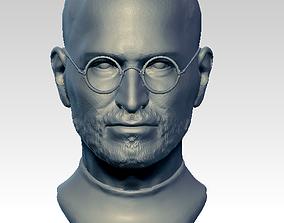 3D print model Steve statue bust face head